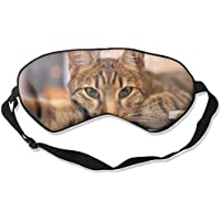 Eye Mask Eyeshade Cat Lying Down Sleeping Mask Blindfold Eyepatch Adjustable Head Strap preisvergleich bei billige-tabletten.eu