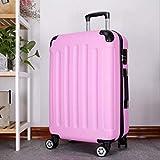 """GuGou Woman Travel SuitcaseBusiness ABS Trolley Koffer Studenten Reisen wasserdicht Gepäck Boarding Box Reisetaschen mit Rad Rosa 24"""""""