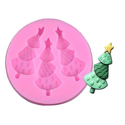 outflower 1PCS zu der Mode Kuchen Weihnachten Baum Backform Basteln Süßigkeiten Kuchenform AU Chocolat Backform-Tools Kochen Dekoration von Kuchen Silikon Flüssigkeit Backform