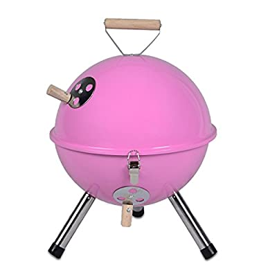 Mini Grill Kugelgrill Holzkohlegrill für Garten Terrasse Camping Festival Picknick BBQ Barbecue Ø 30 cm