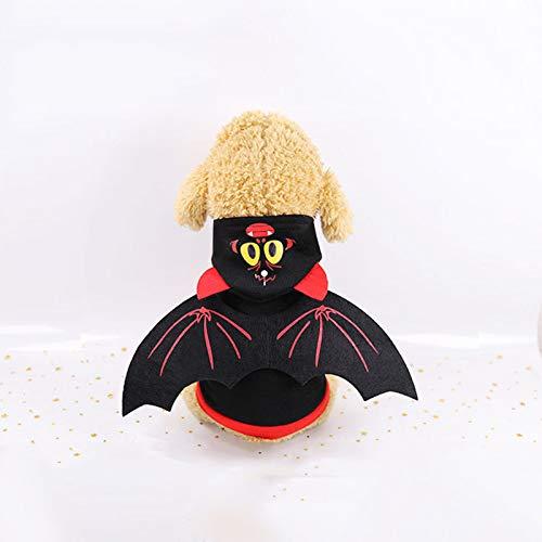 Flügel Kleine Fledermaus Kostüm - DIANZHI Hunde-Halloween-Hemd, Fledermaus-Flügel, Kostüm für kleine Hunde und Katzen, Halloween, Cosplay, Urlaub, Festival, Party