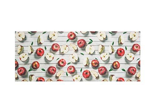 6761387786 Biancheria Store Tappeto Cucina GOMMATO in 6 Misure Tappetino LAVELLO  CINIGLIATO Mele Mela Frutta Frutti - 58x80 cm Beige