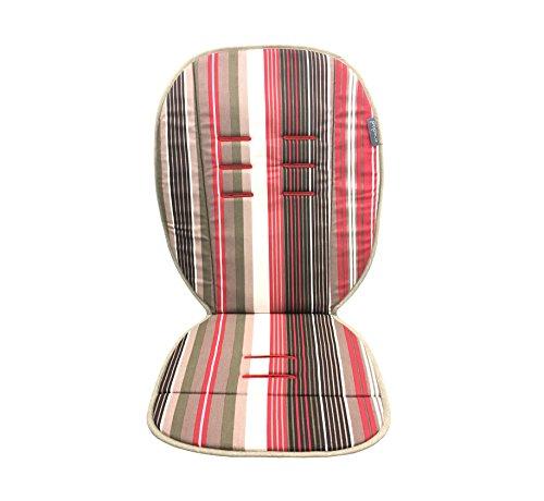 Poplico - Coprisedile double-face per seggiolino auto, colore: Rosso/Rosso a strisce