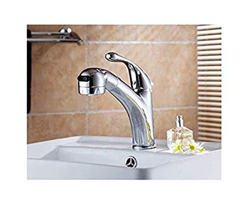 Retro Wasserhahn Küche Fauct Bad Eitelkeit Becken Und Spüle Doppeltes Heißes Und Kaltes Wasserhahn Mit Ausziehbarem (Doppelte Bad Eitelkeit)