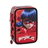 Zeus Party ASTUCCIO TRIPLO CON LADY BUG MIRACULOUS CON PENNE E COLORI