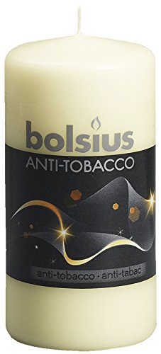 Bolsius 8717847059444 candela a colonna profumata mangiafumo, cera, beige, 6 x 6 x 12 cm
