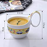 baporee Bambini creativi Che bevono Tazza Tazza in Ceramica Tazza di caffè Tazza di Latte Tazza 400 ml Auto