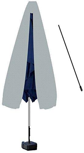 Deluxe Polyester Schutzhülle Schutzhaube Abdeckung mit stab für Sonnenschirm Schirm 190cm grau