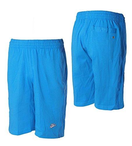 Logo Cotton Shorts (Nike Herren Shorts Mens Shorts Jersey Long 3D Logo Cotton Shorts Knee Length Black/Grey/Blue S M L XL New 558380 (Blue, M))