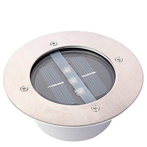 LU2000 Edelstahl LED Solar Garten Lichter, Outdoor Underground Boden begraben Landschaft Ground Zaun Lampe Boden Licht Tür Stairsway Schritt Beleuchtung - Underground Light (Landschaft Beleuchtung Im Boden)