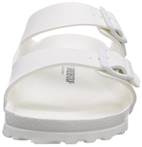 BIRKENSTOCK Unisex-Erwachsene Arizona Eva Pantoletten Weiß (White 43)
