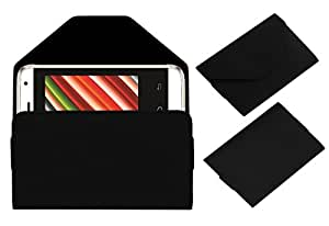 ACM Premium Pouch Case for Intex Aqua G2 Flip Flap Cover Black
