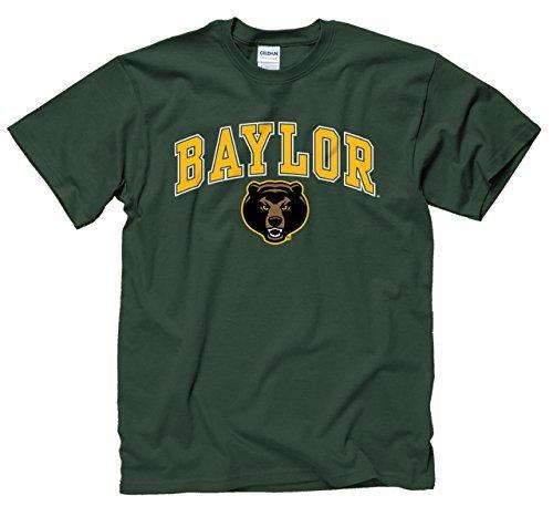 Farben Baylor Bears Erwachsene Arch & Logo Gameday T-Shirt-Grün, Herren, Grün, XX-Large ()