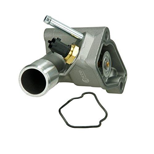 Preisvergleich Produktbild ECD Germany HV-004 Thermostatgehäuse Thermostat mit Gehäuse + Dichtung + Sensor