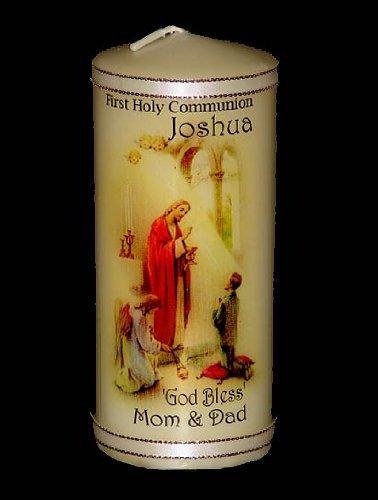 Jungs erste Kommunion personalisierbar mit Ihren Botschaft Geschenk Kerze