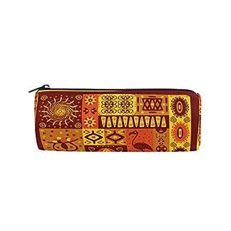 BONIPE – Estuche para lápices, diseño vintage étnico indio con cremallera, ideal para cosméticos