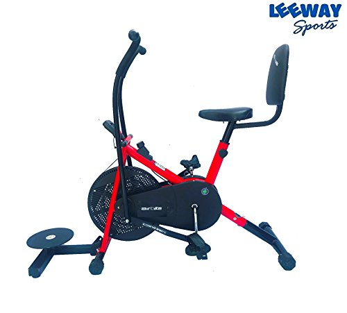 Air Bike Exercise Cycle by Leeway| Moving Handle Gym bike| Deluxe Design of Crossfit Fitness| Lifeline for Cardio Work Out| Stamina BGA 2001 Bike| Dual Action Airbike with Back Rest and Twister- RED  available at amazon for Rs.7999