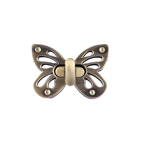 SUPVOX Weiblicher Taschen-Schmetterlings-Geldbeutel verriegelt Kupplungen Verschlüsse mit Schmetterlingsform, Geldbeutel-Torsions-Verschluss -