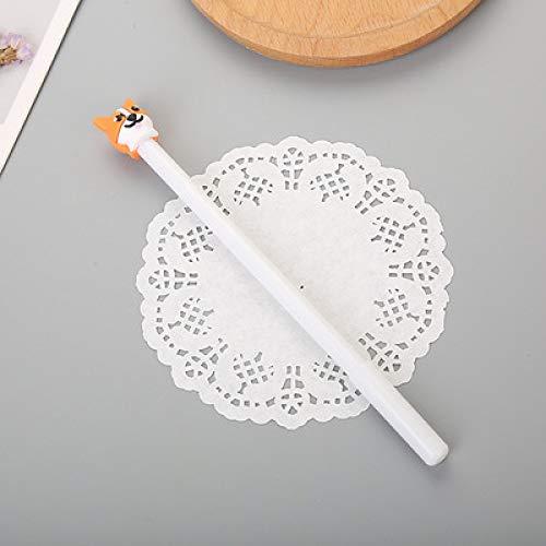Kreatives Lernen Briefpapier Cartoon Silikon Fuchs Avatar Gel Stift Frische Tier Styling Niedlichen Studenten Stift 10 Stöcke Weiß 18Cm
