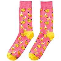 Generies Happy Tube Calcetines Fruit Banana Hombres y Mujeres Calcetines Personalidad Calcetines de algodón
