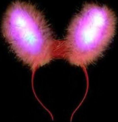 Generique Hasenohren mit LED Leuchten für Erwachsene