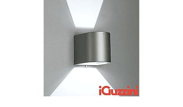 Iguzzini 5687.15 kriss parete applique grigio esterno ip44: amazon