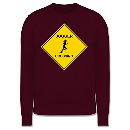 Laufsport - Joggerin - Herren Premium Pullover Burgundrot