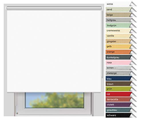 EFIXS Thermorollo Maxi - 32 mm Welle - Farbe: Weiss (051) - Größe: 180 x 240 cm (Stoffbreite x Höhe) - Hitzeschutzrollo - Verdunklungsrollo -