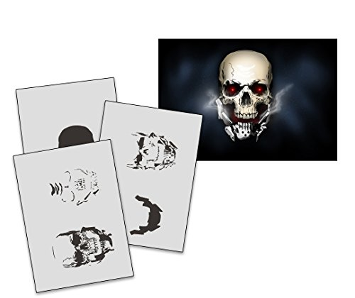 umr-design-as-235-metal-skull-airbrushschablone-step-by-step-grosse-m