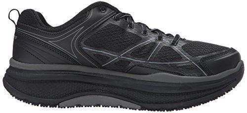 Skechers Cheriton Femmes Synthétique Chaussures de Travail Black-Gray