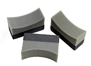 3 x Professional Tyre Dressing Applicator Foam Sponge Pad