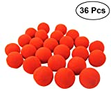 BESTOYARD 36pcs Divertido Esponja Payaso narices Halloween Dress Up Props Traje del Favor del Partido (Rojo)