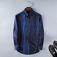 Authentic Burberry men's classic stiletto cotton long-sleeved casual shirt (L)