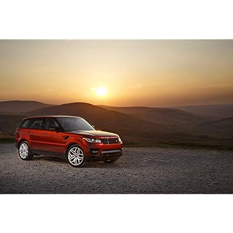 Clásico y músculo anuncios de coche y COCHE arte Land Rover Range Rover Sport V8sobrealimentados (2013) coche Póster en 10mil Archival papel satinado rojo parte delantera estática Vista, papel, Red Front Side Static View, 36