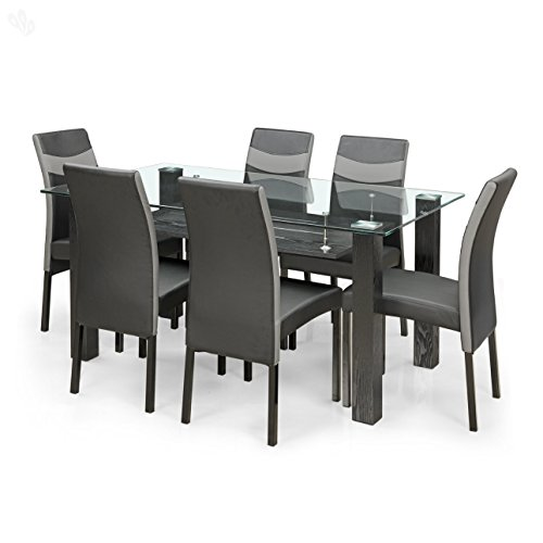 Royal Oak Aqua Six Seater Dining Set (Black)