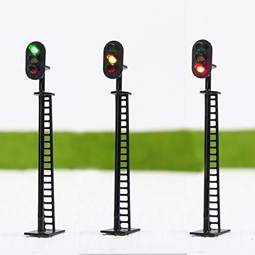 Evemodel JTD02DE 5 STK. Ampeln LED Signal Lichtsignal 83mm 12V rot/gelb/grün H0 / 00