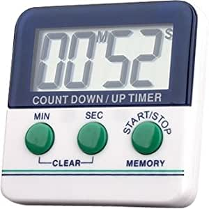 Kitchen Countdown Timer - Hours & minutes - large display and loud alarm - don't let your food burn again!