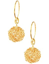 Aastha Jain Mesh Wire Sterling Silver(18k gold plated) Earring For Women and Children