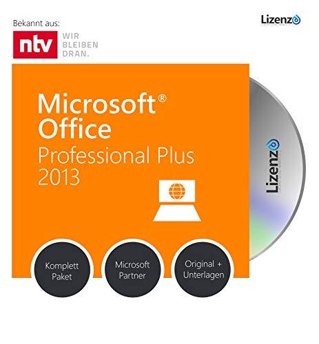 Microsoft® Office 2013 PRO (Professional Plus) DVD mit original Lizenz. Lizenza® Plus Pack. Alle Sprachen 32 & 64bit