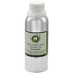 R V Essential Graine de coton pur porteur Huile 630ml (21oz) - Gossypium Spp (100% Pur et naturelle pressée à froid) Pure Cotton Seed Carrier Oil