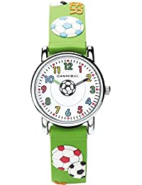 Cannibal Kid's Quartz Watch with White Dial Analogue Display and Green Resin Strap CK198-11
