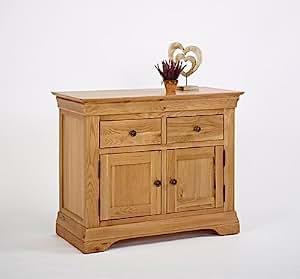 Calais Solid Oak Living Room Furniture 3ft Sideboard ...