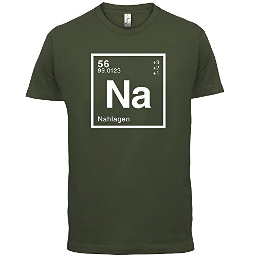 Nahla Periodensystem - Herren T-Shirt - 13 Farben Olivgrün