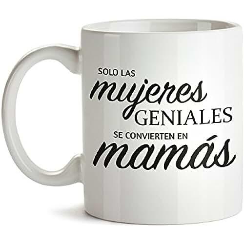 taza del dia de la madre Taza – Taza de café blanca con mensaje – Taza de graduación para mamás – Estándar – Taza de café como regalo del Día de la Madre – Regalo ideal para mamá primerizas