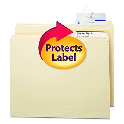 SMEAD 67600Dichtung & view Datei Ordner Label Displayschutzfolie, klar Laminat, 3-1/2x 1-11/16(100Stück) - Datei Laminat