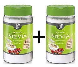2 x borchers Stevia Streusüße | Alternative zu Zucker | Kalorienarm | Rebaudiosid A 75 g