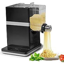 Máquina para pasta, Eléctrica fabricante de la pasta en blanco y negro de 150 vatios durante 6 tipos de pasta (Negro)