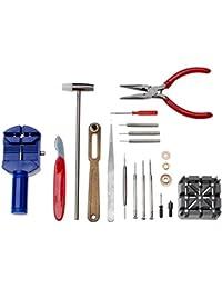 JZK® Reloj reparar 16PC kit de reparación del kit de herramientas pin banda de acoplamiento de la correa del removedor de espalda destornilladores abridor pinzas