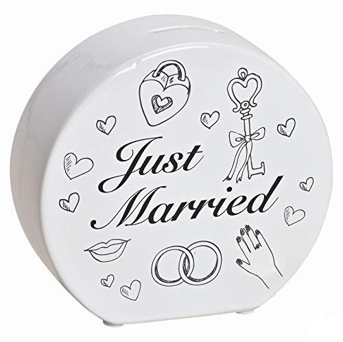 Unbekannt SpardoseJust Married Hochzeit Heirat Geschenk 14cm Braut Geldgeschenk