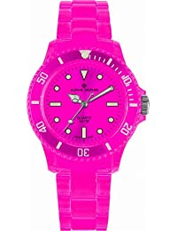 Alpha Saphir Unisex-Uhren Quarz Analog 369I, 39 mm rosa
